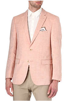 HUGO BOSS Halson linen and wool-blend blazer