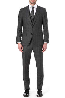 HUGO BOSS Glen plaid slim three-piece suit