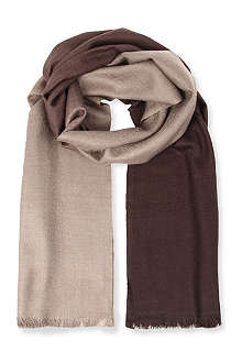 HUGO BOSS Double-sided ombre scarf