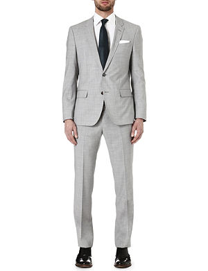 HUGO BOSS Hedson/Gander wool and mohair-blend suit