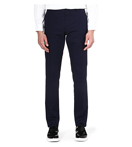 HUGO BOSS Stretch-cotton trousers (Navy