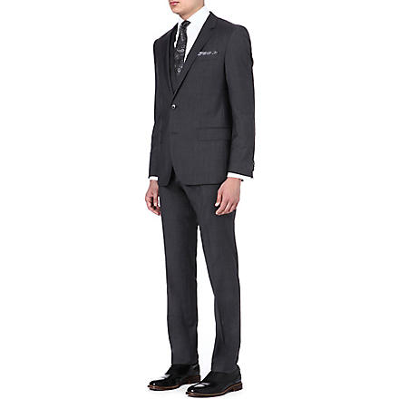 HUGO BOSS Huge/Genius wool and silk-blend suit (Grey