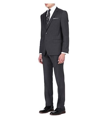HUGO BOSS Huge/Genius wool and silk-blend suit (Grey