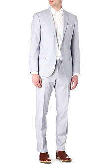HUGO BOSS Huge Genius micro-striped suit