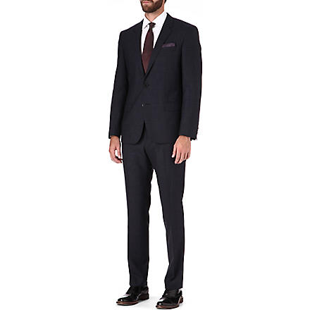 HUGO BOSS Huge/Genius Glen plaid suit (Navy