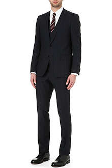 HUGO BOSS Huge/Genius pinstripe three-piece suit