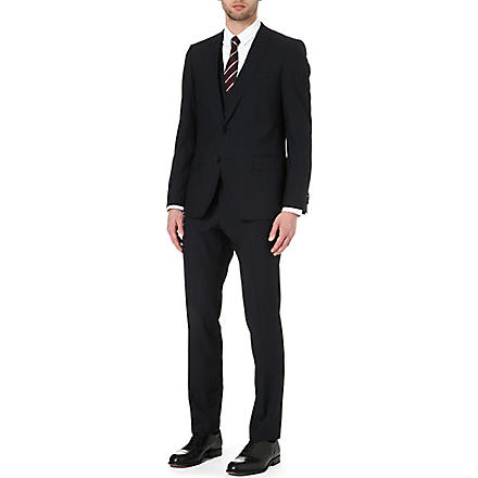 HUGO BOSS Huge/Genius pinstripe three-piece suit (Navy