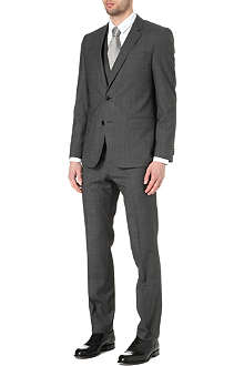 HUGO BOSS Huge/Genius micro-check three-piece suit