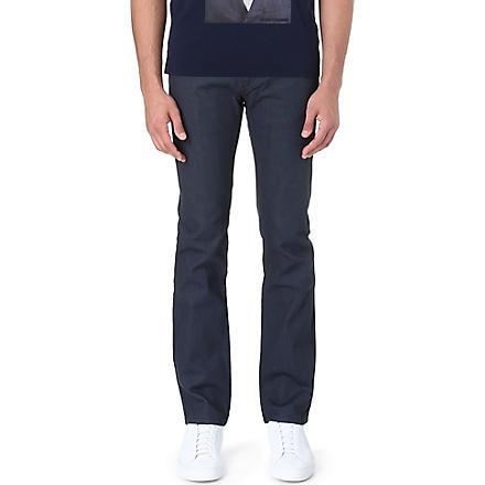 HUGO Mid-rise slim-fit jeans (Grey