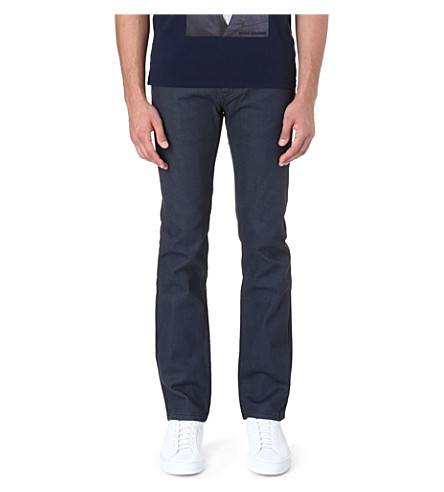 HUGO Mid-rise slim-fit jeans (Grey