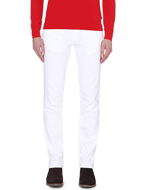 HUGO Slim-fit tapered stretch-denim jeans