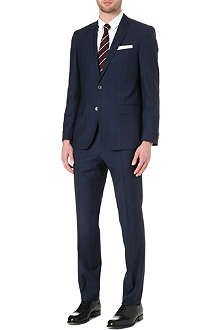 HUGO BOSS Hutson/Gander Glen check suit
