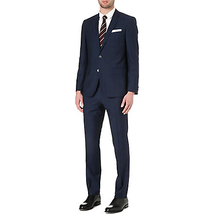 HUGO BOSS Hutson/Gander Glen check suit (Navy