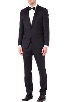 HUGO BOSS Shawl lapel wool-blend suit