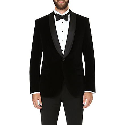 HUGO BOSS Hyat velvet jacket (Black