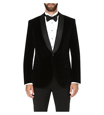 HUGO BOSS Hyat velvet jacket (Black