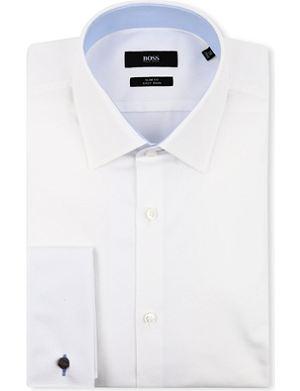 HUGO BOSS Jac slim-fit double-cuff shirt
