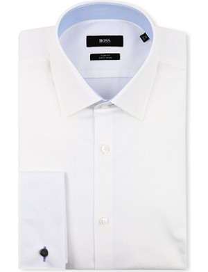 HUGO BOSS Jac slim-fit double-cuff shirt