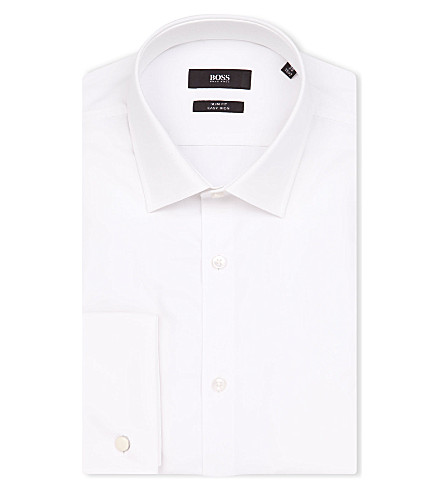 HUGO BOSS Jacques slim-fit cotton shirt (White