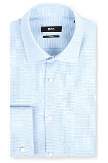 HUGO BOSS Jacques slim-fit mini jacquard shirt