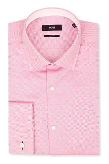 HUGO BOSS Jacques geometric slim-fit single-cuff shirt