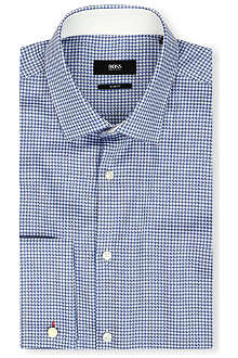 HUGO BOSS Jacques gingham slim-fit double-cuff shirt