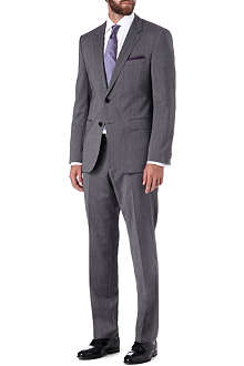 HUGO BOSS James sharp textured-stripe wool suit