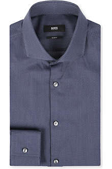 HUGO BOSS Satin tape cotton shirt