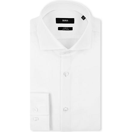 HUGO BOSS Jane slim-fit single-cuff shirt (White