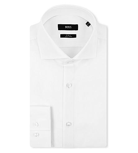 HUGO BOSS Jane slim-fit single-cuff shirt (White