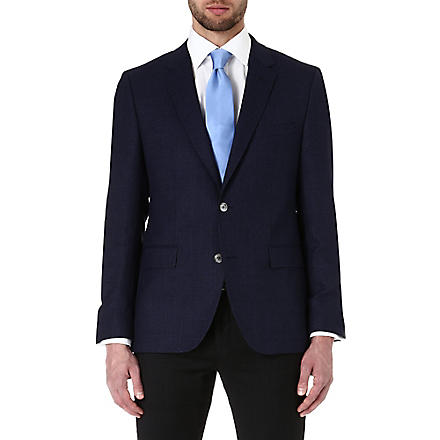 HUGO BOSS Jarett textured wool jacket (Navy