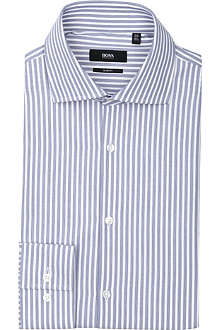 HUGO BOSS Jarron slim-fit single-cuff striped shirt
