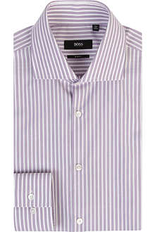 HUGO BOSS Bengal stripe slim-fit single-cuff shirt
