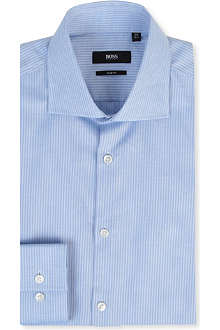 HUGO BOSS Self stripe slim-fit single-cuff shirt