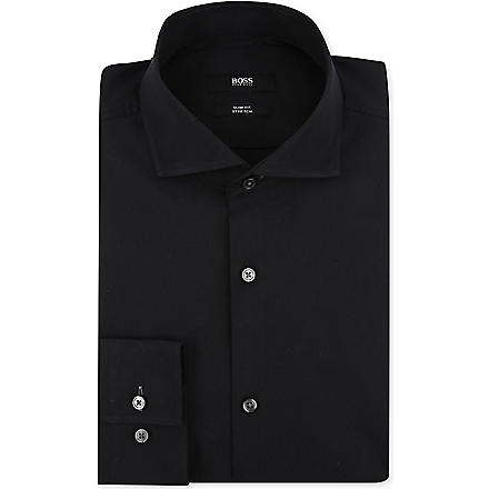 HUGO BOSS Jaser slim-fit single-cuff shirt (Black
