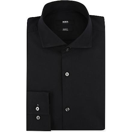 HUGO BOSS Jaser slim-fit single-cuff shirt (Black