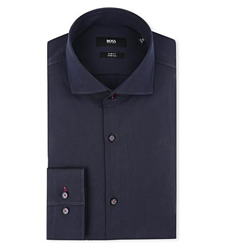 HUGO BOSS Jaser slim-fit single-cuff shirt (Navy