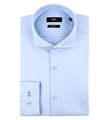HUGO BOSS Jaser slim-fit single-cuff shirt (Sky