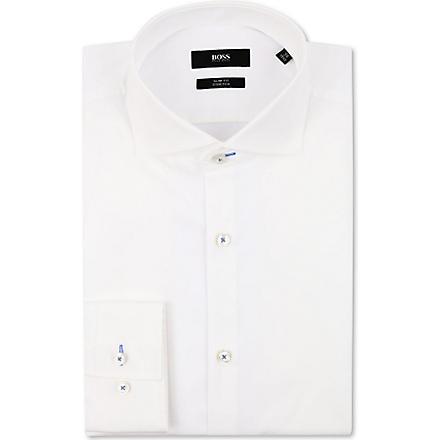 HUGO BOSS Jaser slim-fit single-cuff shirt (White