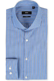 HUGO BOSS Striped slim-fit single-cuff shirt