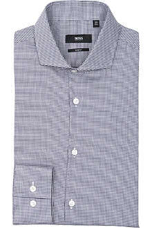 HUGO BOSS Jason slim-fit micro-tooth shirt