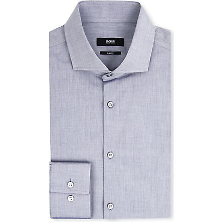 HUGO BOSS Jason slim-fit single-cuff shirt (Grey