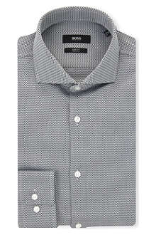 HUGO BOSS Jason chevron slim-fit shirt