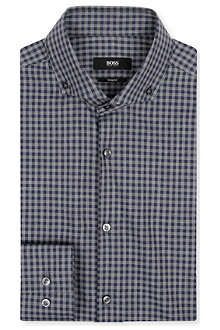 HUGO BOSS Jen gingham slim-fit shirt