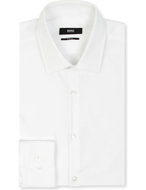 HUGO BOSS Jenno slim-fit single-cuff shirt