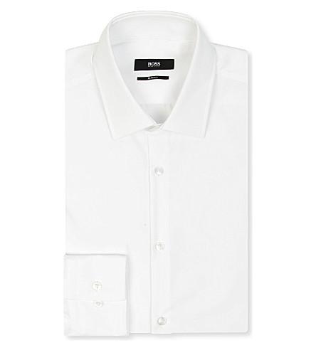 HUGO BOSS Jenno slim-fit single-cuff shirt (White