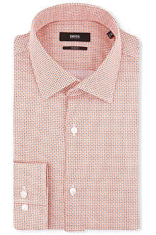HUGO BOSS Jenno slim-fit single cuff printed shirt