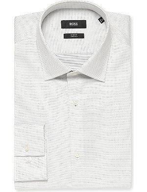 HUGO BOSS Micro-dot slim-fit cotton shirt