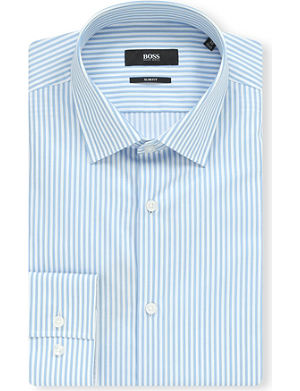 HUGO BOSS Jenno slim-fit Bengal stripe shirt