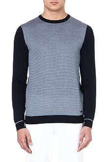 HUGO BOSS Silk-jacquard jumper